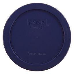 4 Cup Round Plastic Lid  Dark Blue
