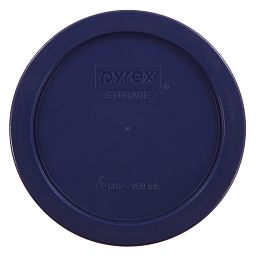 Pyrex 4 Cup Round Plastic Lid, Dark Blue