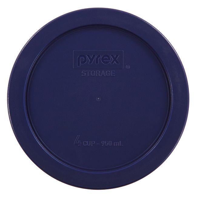 4 Cup Round Plastic Lid, Dark Blue