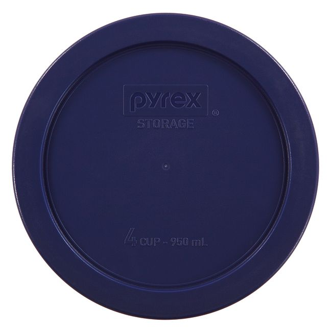 4 Cup Round Plastic Lid Dark Blue Pyrex