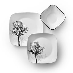 Square Timber Shadows 18-pc Dinnerware Set Top View