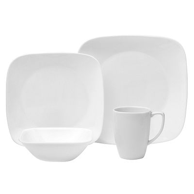 Pure White 16-piece Dinnerware Set, Service for 4