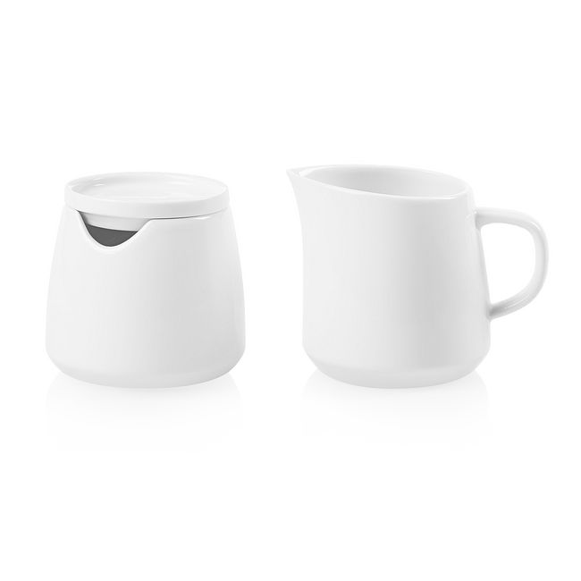 Winter Frost White Porcelain Creamer & Sugar