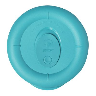 Pyrex Pro 1.67 Cup Round Vented Plastic Lid, Turquoise