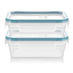 Total Solution™ Plastic Food Storage 2 Pack  Rectangle side view