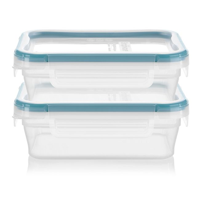 2-pack Plastic Food Storage Container Set