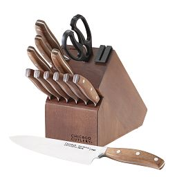 Signature Edge Walnut 13-piece Knife Block Set
