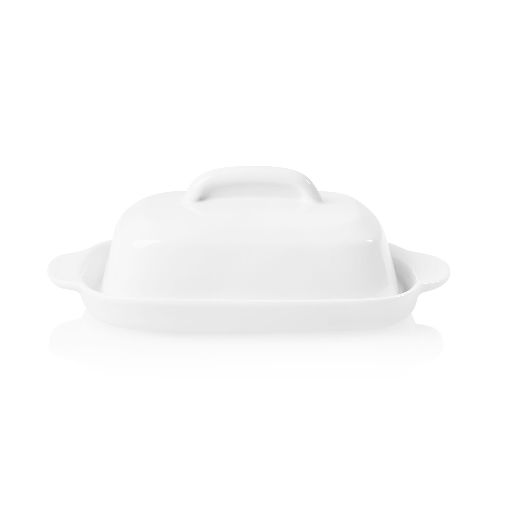 Corelle Winter Frost White Porcelain Butter Dish with Lid