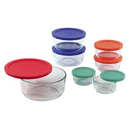Simply Store® 14-pc Set w/ Multi Colored Plastic Lids