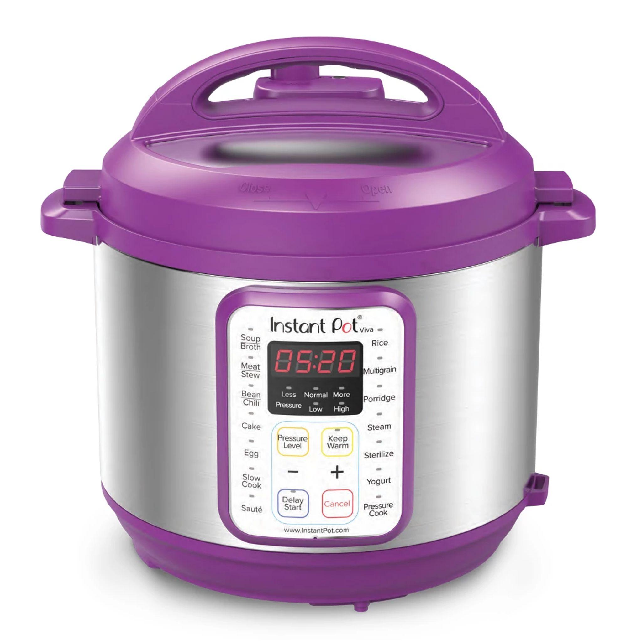 Instant Pot Viva 6-quart Multi-Use Pressure Cooker, Eggplant
