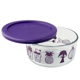 Simply Store® 4 Cup Mod Kitchen Storage Dish w/ Purple Lid