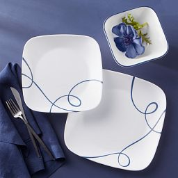 Square Lia 18-piece Dinnerware Set, Service for 6 on the table