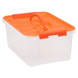 "Smart Store® 14"" x 6"" Home Storage Container with Orange Handles"