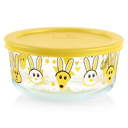 Every Bunny 7-cup Food Storage Container with Yellow Lid