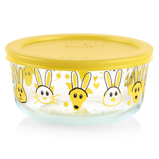 Every Bunny Yellow 4-cup Food Storage Container with Lid