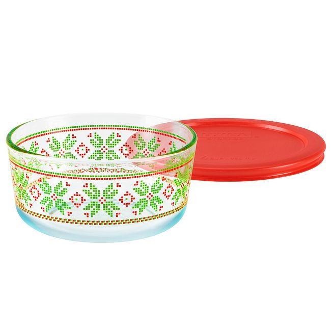 Simply Store 4 Cup Sweater Storage Dish w/ Red Lid