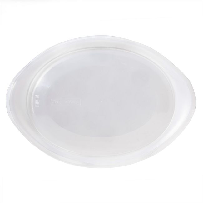 French White 2.5-qt Clear Oval Plastic Lid