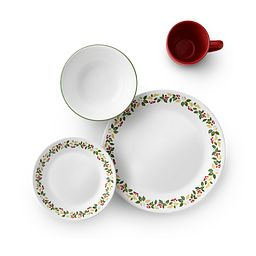 Classic Holiday Berries 16-pc Dinnerware Set top view