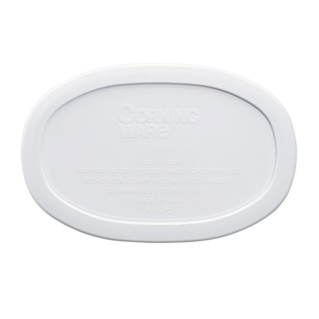 French White Plastic Lid for 15-ounce Baking Dish