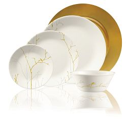 Market Street New York Gilded Woods 5-pc Place Setting