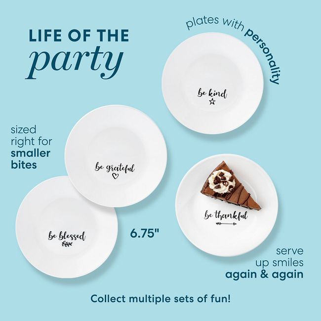 "Sentiments 6.75"" Appetizer Plates, 8-pack"