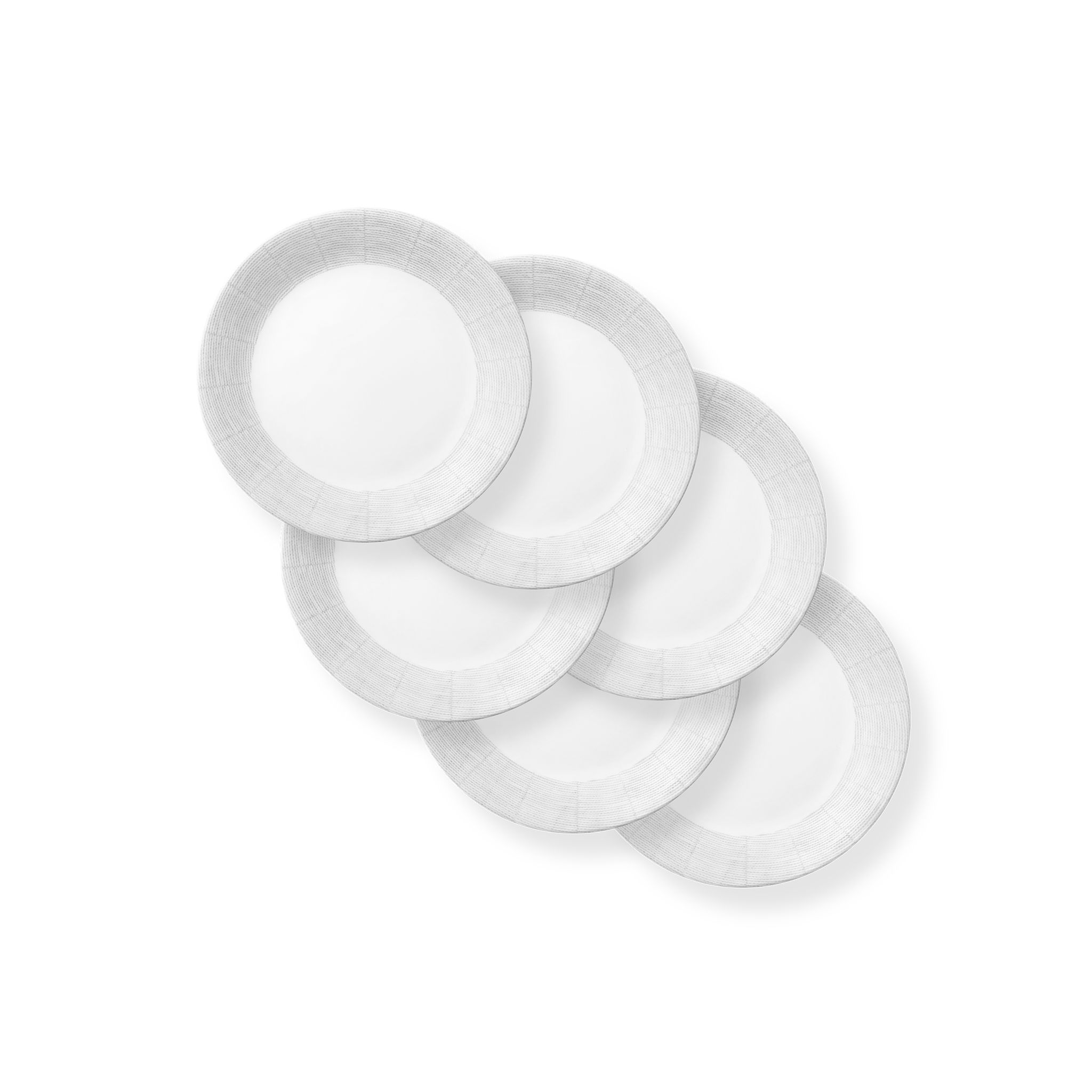 Woven Lines 8.5? Salad Plates, 6-pack