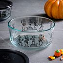 Day of the Dead 7-cup Glass Food Storage Container (Lid Sold Separately)