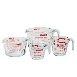4-pc Measuring Cup Set, Red