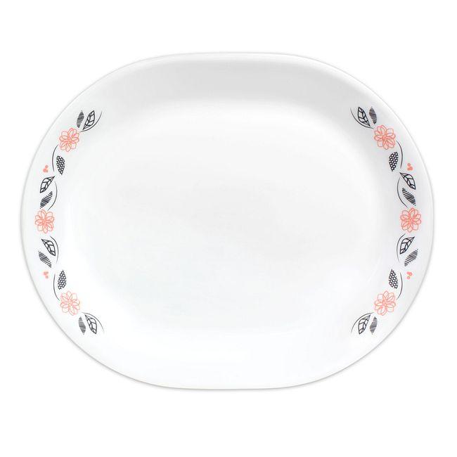 """Tangerine Garden 12.25"""" Serving Platter"""