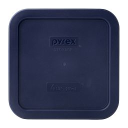 4 Cup Square Storage Plastic Lid  Blue