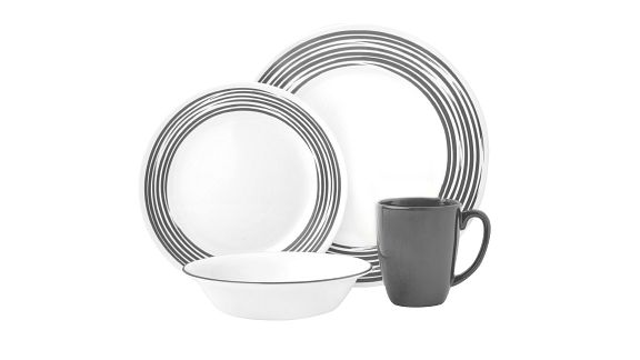 Brushed Silver corelle pattern dinnerware