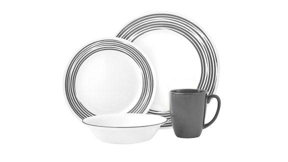 Brushed Silver corelle pattern dinnerware