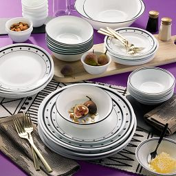 Black Beads 50-piece Dinnerware Set