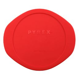 2-qt Round Plastic Lid  Red