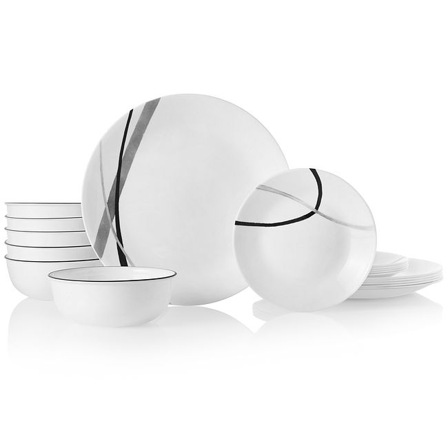 City Ribbon 18-piece Dinnerware Set, Service for 6