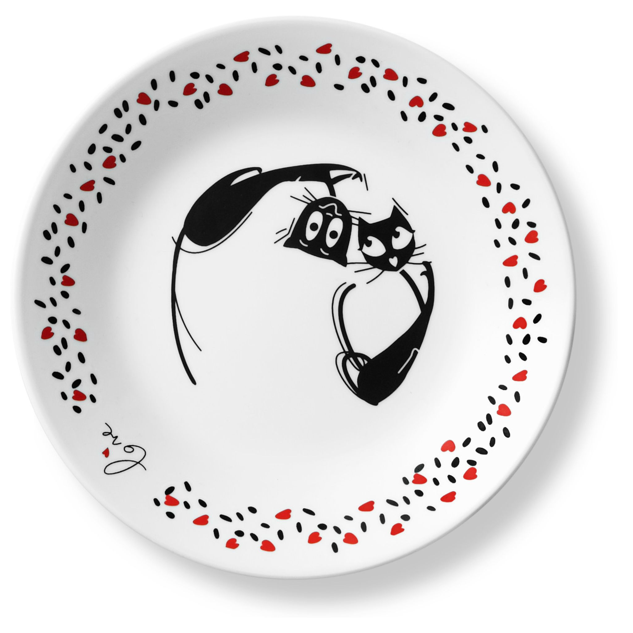 Corelle_Loving_Cats_Head_Over_Heels_675_Appetizer_Plate