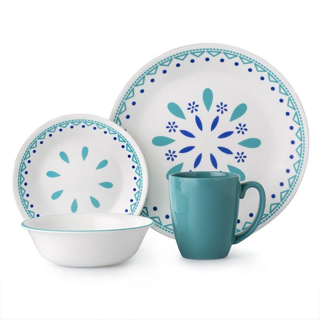 Santorini Sky 16-piece Dinnerware Set, Service for 4