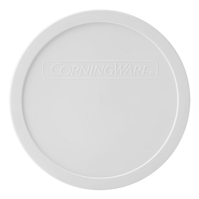 French White Plastic Lid for 1.5-quart Round Baking Dish