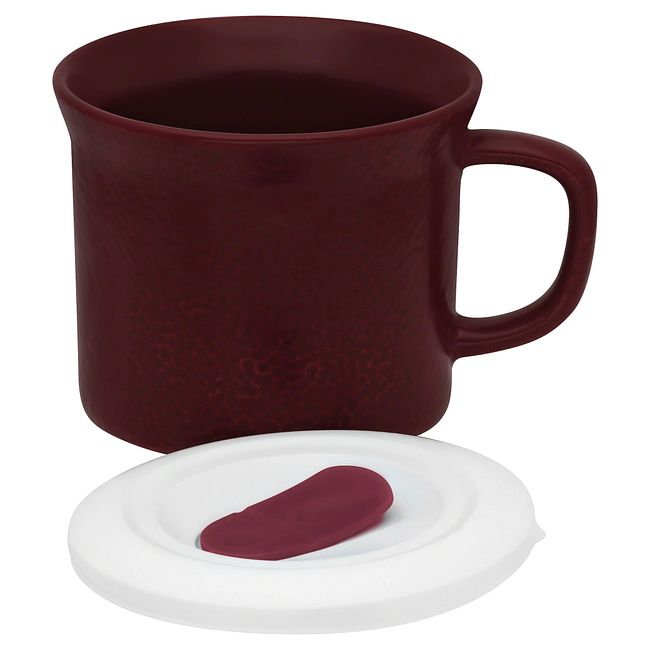 20-ounce Hammered Maroon Meal Mug™ with Lid