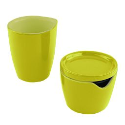 Corningware Sprout Green Cream and Sugar Set