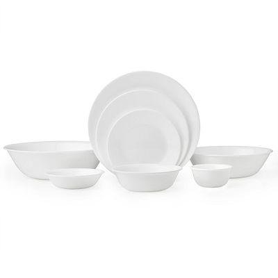 Winter Frost White 50 Piece Dinnerware Set Service For 8 Corelle