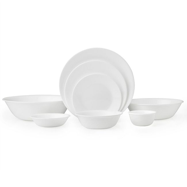 Winter Frost White Dinnerware Set, Service for 8