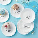 "Sentiments 6.75"" Appetizer Plate Set, 8-pk"