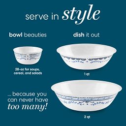Photo of 28-oz, 1-qt bowl and 2-qt Portofino bowls
