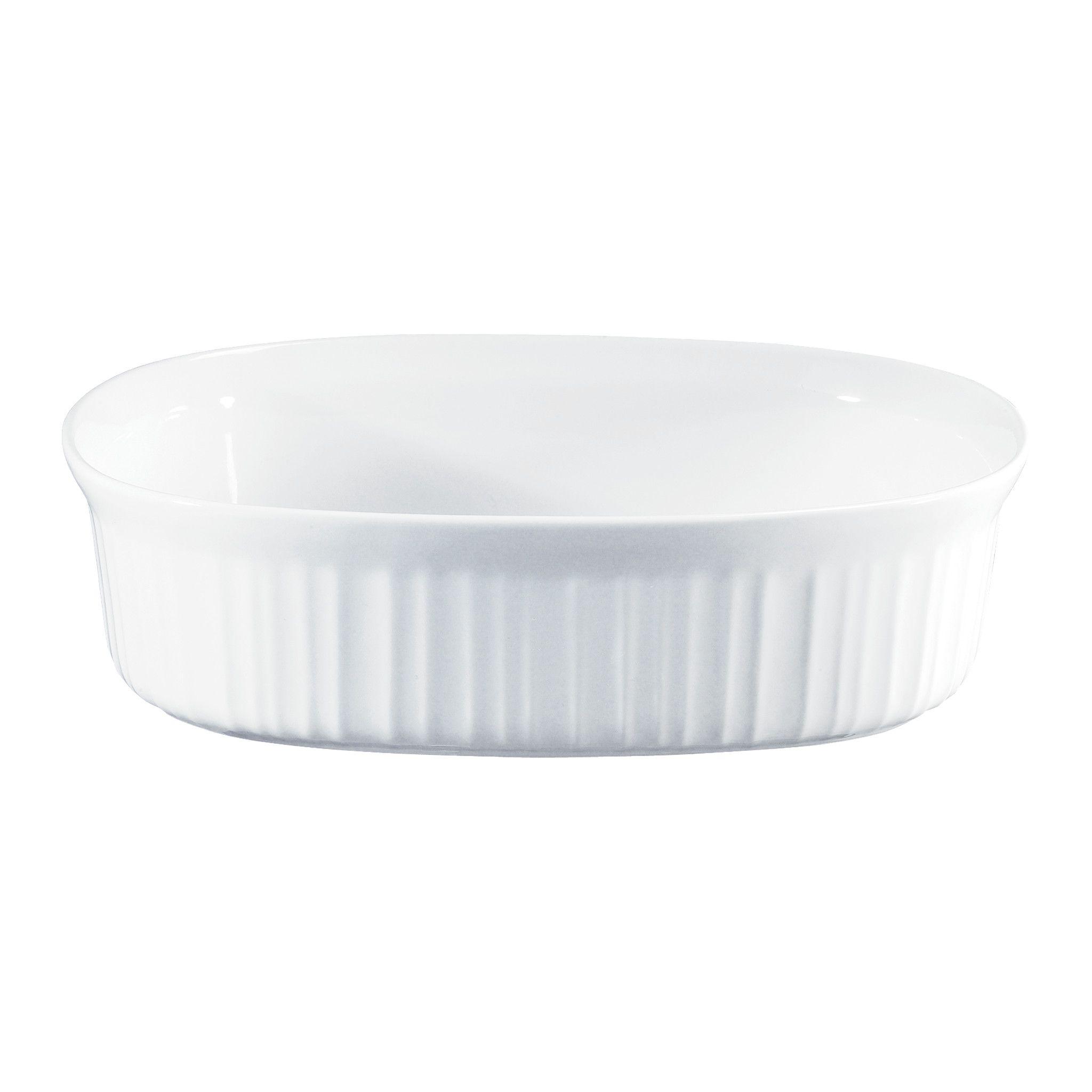 5 Quart A-5-B Corning Ware White Coupe Square Casserole w// Lid