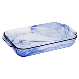 Watercolor Collection Blue Lagoon 3-qt Oblong Baking Dish
