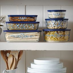 Simply Store 2 Cup Prairie Garden Storage Dishes on Shelf