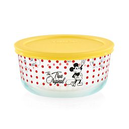 4-cup Decorated Storage: Mickey Mouse™ - True Original - red dots with yellow lid