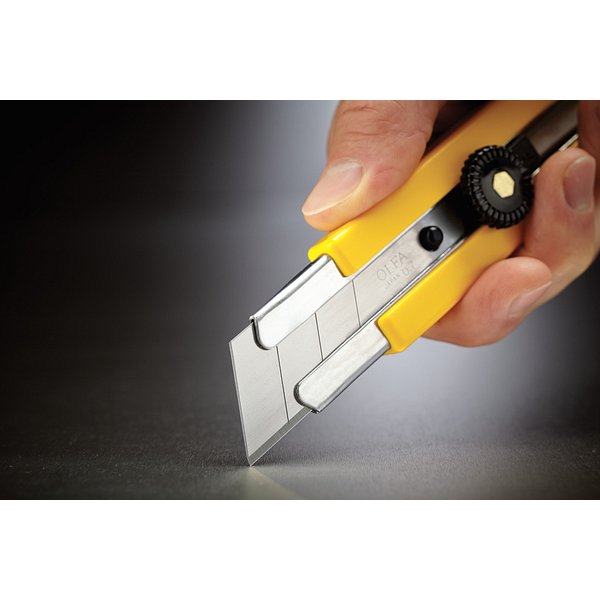 25mm Extra Heavy-Duty Ratchet-Lock Utility Knife with Anti-Slip Grip (H-1)