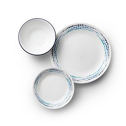 Ocean Blues 18-pc Dinnerware Set Top View
